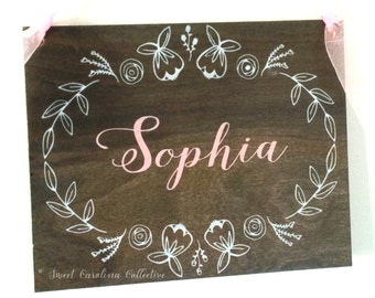 Personalized Rustic Baby Name Sign- BS-4
