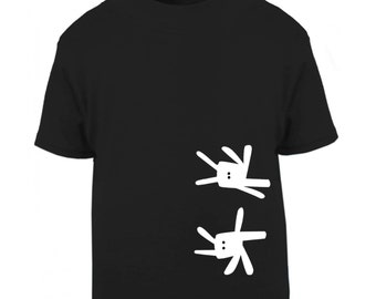 Funny kids t-shirt, kids bunny shirt, rabbit children clothes, unisex tee, black boys t shirt, girl tee shirt