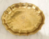 Engraved Brass Dish, With Love Brass Trinket Dish, Engraved Brass Dish, With Love Dish, Gift for Her, Gift for Him