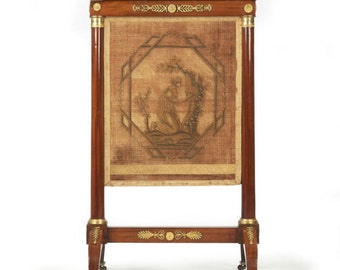 PRICE REDUCED French Empire Antique Mahogany Firescreen, circa 1810-20, 1402KRP28-P