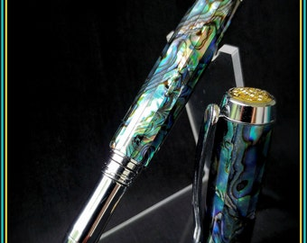 Abalone pen - Jr Anthony Rollerball - Hand Turned
