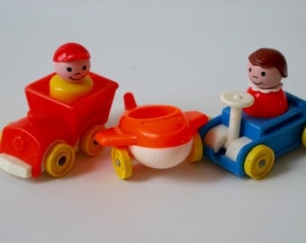 Vintage Fisher Price Little People Riders