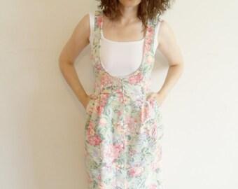Vintage Hipster Floral Jumper Dress