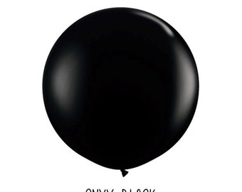3 ft Black Round Balloon