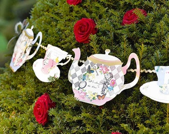 Alice in Wonderland Mad Hatter Tea Party Garland