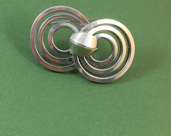 SALE Vintage Abstract Circles Brooch Kramer if New York