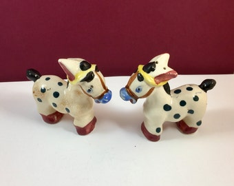 SALE Painted Donkey Salt and Pepper Shakers Made in Japan