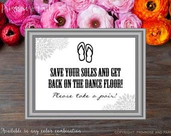 Wedding Flip Flop Sign Printable // Flip Flop Basket Sign // Customized Option