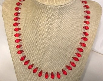 Red Teardrop Necklace