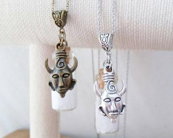 Supernatural salt necklace - salt vial necklace - supernatural jewelry - cosplay jewelry - supernatural rock salt - supernatural vial