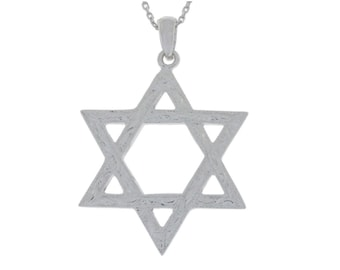 Star of David Pendant .925 Sterling Silver