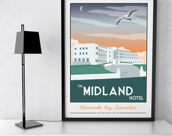 The Midland Hotel, Lancashire Giclee Print
