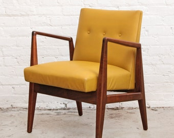 Jens Risom Mustard Lounge Chair Arm Chair