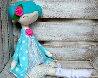 Cloth Rag Doll Handmade Sweet Doll