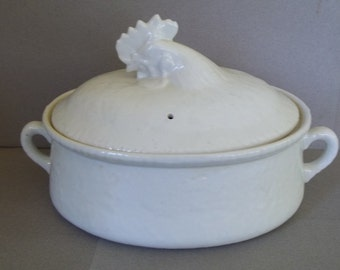 Vintage French Apilco Porcelain Casserole Dish - Williams & Sonoma Casserole Covered Dishh - Casserole Dish - Apilco Chicken Casserole Dish