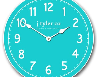 New Traditional Aqua Wall Clock