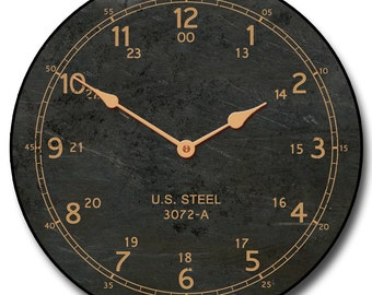 US Steel Wall Clock