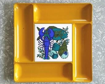 Serving platter Seaside Nautical Tile Plastic Tray