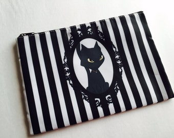 New! Fuzzy Tailz Cosmetic Cat Bag