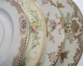 Vintage Mismatched China Dinner Plates for Weddings,Tea Party,Bridal Luncheons,Showers,Hostess Gift,Bridesmaid Gift, - Set of 4