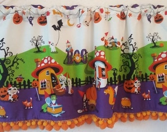Nightmare in Gnomeville curtains