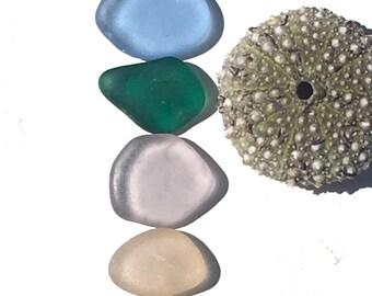 Seaglass, Beach Glass, California, Cornflower Blue, Canary Yellow, Emerald Teal, Pink, Lavender, Collectible, Beach Gift, Beach Art, OOAK
