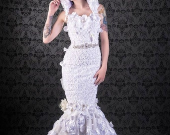 Rose Embellished Mermaid Gown