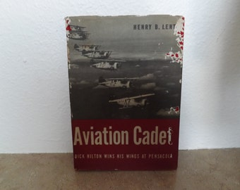 Antique Book Aviation Cadet With Dust Jacket