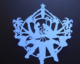 Snowflake Paper Die Cuts in your choice of color and patterns and sizes