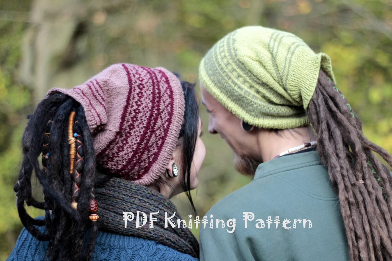 Knitting Pattern For Dreadlock Hat : 2 PDF Knitting Patterns-Dreadlock Hats for Woman and