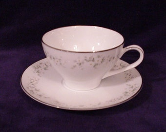 Noritake ANNABELLE 6856 Cup & Saucer 2 3/8""