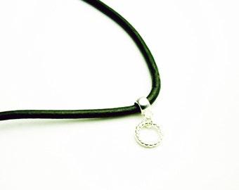 SALE Custom Leather Necklace. Interchangeable Charm Necklace. . SCC477