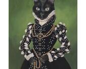 Funny Cat Lover Gift, Canvas Prints, Isabel, Black Cat, Funny Cat Wall Art