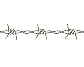 barbed wire embroidery design