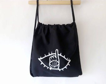 20th Century Boys inspired drawstring backpack  Cotton canvas 35x35cm