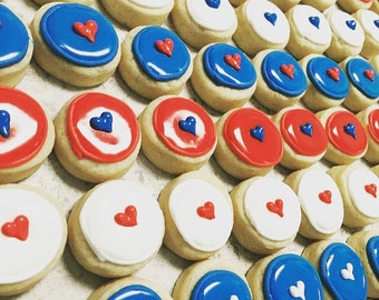 mini fourth of july cookie packs