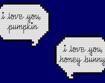 Pulp Fiction Quote Cross Stitch Pattern INSTANT DOWNLOAD