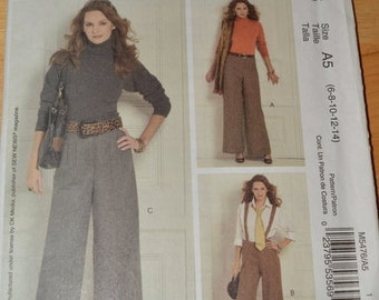 McCall's 5476 Misses' / Miss Petite Pants, sizes 6 to 14.