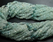 13 Inches Strand,Mixed Super Fine Quality Aquamarine Faceted Rondelles,Size 4-4.5mm