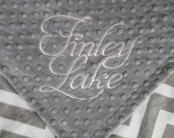 BABY GIRL Personalized Minky Blanket