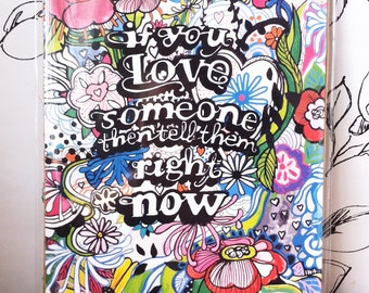 Love Quote Illustration Print