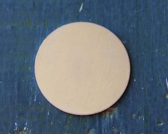 """Aluminum Round Stamping Blank - 1 1/4"""" Metal Stamping Blank - 20 Gauge - Pack of 10 - Jewelry Metal Stamping Blank - SGAD12480"""