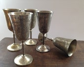 Antique Silver plated Goblet Footed bowl Antique Tableware Silver flutes Vintage wedding table