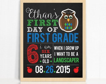First Day of School Printable Sign for Girl Printable First