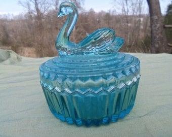 Blue Swan Powder Dish