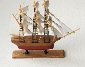 Dollhouse Miniature Sailing Ship (SM)