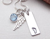 Infant Loss Memorial Necklace- Remembrance Jewelry- Miscarriage Necklace-Memorial Jewelry- Child Loss Necklace- Baby Angel Necklace