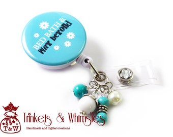 Bed Bath and Way Beyond CNA Certified Nurse Assistant Turquoise Retractable Badge Holder