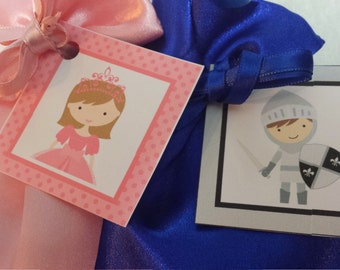 PARTY PACK Princess & Knight Favor Bags (Filled) - Mix and Match