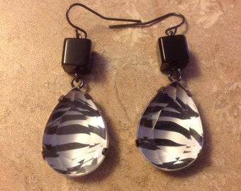 Black/White Zebra Earrings